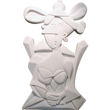 Woman with Chocolate Tartlet | 2011 | Carrara Marble | Erik Renssen (NL. 1960)