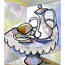 Coffee Pot with Cup and Saucer I | 2014 | Oil painting | Erik Renssen (NL. 1960)