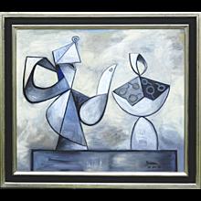 Coffee Pot & Cherries in a Bowl | 2014 | Oil painting | Erik Renssen (NL. 1960)