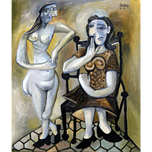 Two Women | 2014 | Oil painting | Erik Renssen (NL. 1960)