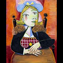 Suzka in a Blue Hat | 2015 | Oil painting | Erik Renssen (NL. 1960)