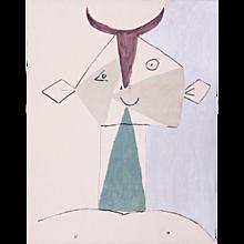Smiling Faun, Pablo Picasso | Hand Colored Pochoir