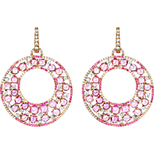 Pink Sapphire Drop Earrings