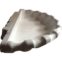 Art Deco gigantic carrara shell , 1940