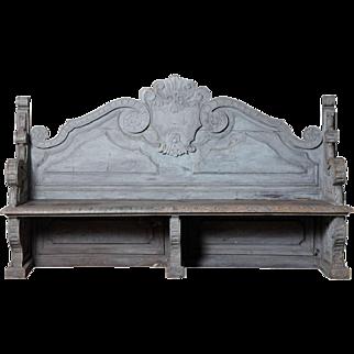 Italian baroque style garden bench c. 1900