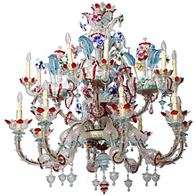 Murano multicolor chandelier 1940's