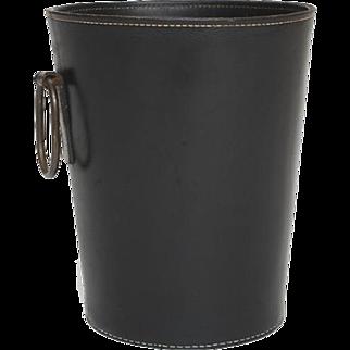 Carl Auböck Waste Basket in leather