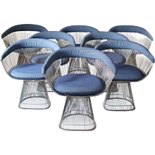 Set of 8 Knoll Warren Platner Chairs