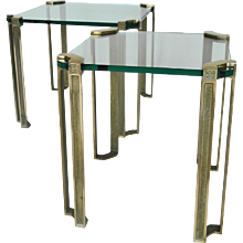 Side Tables Attributed to Peter Ghyczy