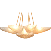 RENÉ LALIQUE 'NOISETIER' ceiling lamp