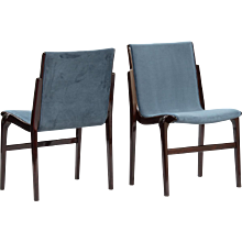 Set of 10 Axel Larsson dining chairs