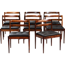 "Set of Eight Kai Kristiansen ""301 Universe"" Dining Chairs"