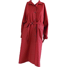 1950 Museum Piece G. Gucci Red Logo Chemisier