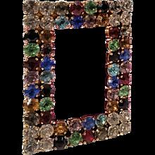 1970s Moschino Vintage fuchsia belt with Swarovski crystals