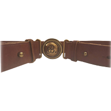1980s Balenciaga brown leather belt
