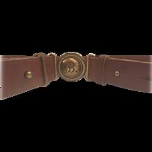 1980s Balenciaga brown leather belt