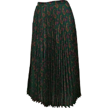 1980s Cacharel Plisset Green Skirt