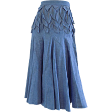 1980s Carlito Blu denim skirt