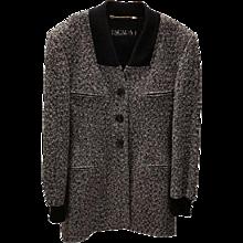 1980s Escada by Margaretha Ley grey and black jacket