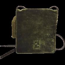 1980s Fendi green suede shoulder bag