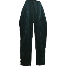 1980s Fiorucci Green Velvet Pants
