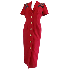 1980s Gai Mattiolo Couture Red Jacket