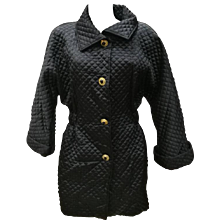 1980s Genny by Gianni Versace Black Coat