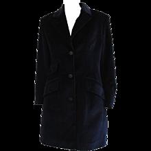 1980s Jean-Charles De Castelbajac Blu Velvet Coat
