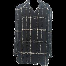 1980s Moschino Cheap & Chic Black & White coat