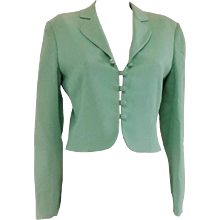 1980s Moschino Cheap & Chic green Jacket
