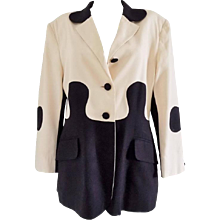 "1980s Moschino Cheap & Chic ""Puzzle"" jacket"