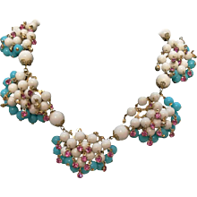 1980s Multitone Vintage Necklace