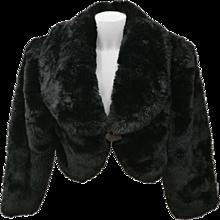 1980s Rocco Barocco Black Faux Fur