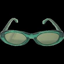 1980s Sonia Rykiel green sunglasses