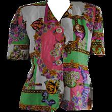 1980s Swish Multicolour Cotton Jacket