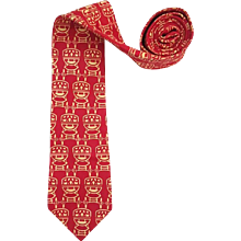 1980s Yves Saint Laurent red tie