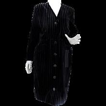 1980 Yves Saint Laurent Variation Green Black Velvet Coat