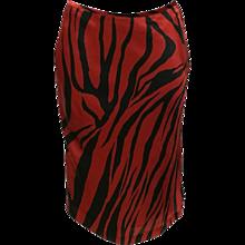 1990s Alexander McQueen Red Black Silk Skirt