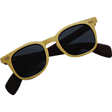 1990s Bollé Yellow and Brown Sunglasses