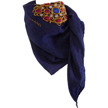 1990s Chanel Multicolour Jewel Foulard Scarf