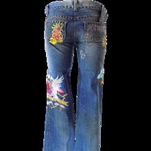 1990s Dolce & Gabbana Hawaii Denim Jeans NWOT