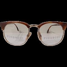 1990s Fiorucci brown tone frame glasses