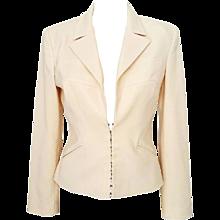 1990s Gianni Versace cream jacket