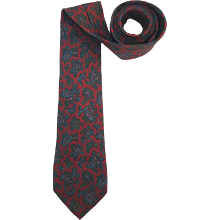 1990s Gianni Versace red multi tie