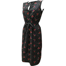 1990s Moschino Grey Embellished Flowers Wool Dress