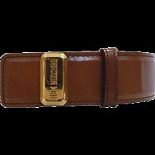 "1990s Moschino ""28k"" Brown Belt"