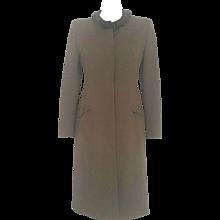 1990s Prada military green coat