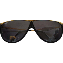 1990s Safilo Black & Gold Sunglasses