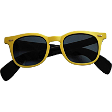 1990s SunRock Yellow Sunglasses