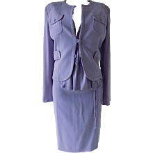 1990s Valentino violet suit and top